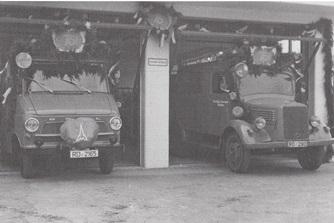 Fuhrpark der FFW Molfsee 1964