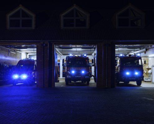 Feuerwehrgerätehaus Stuthagen 19 Molfsee bei Nacht