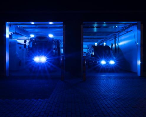 Feuerwehrgerätehaus Stuthagen 17 Molfsee bei Nacht
